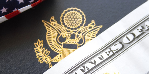 money usa passport header
